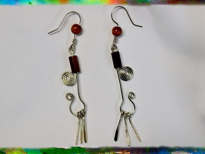 How to Make Simple Earrings with Dangling Flares