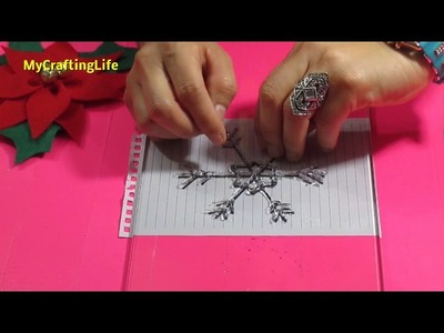 How to make snowflakes with a hot glue gum- Christmas crafts