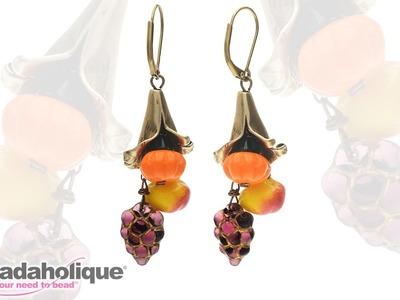 How to Make the Fall Harvest Cornucopia Earrings