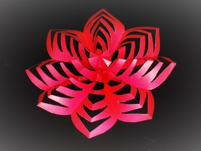 How To Make This Colored Paper Floral Decoration Christmas Day - Room and Party