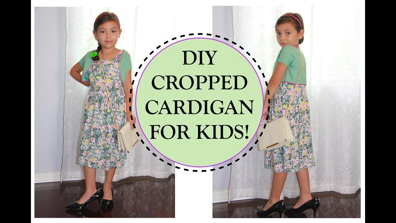 HOW TO SEW A CROPPED CARDIGAN for KIDS
