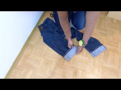 How to shorten long jeans keeping original hem