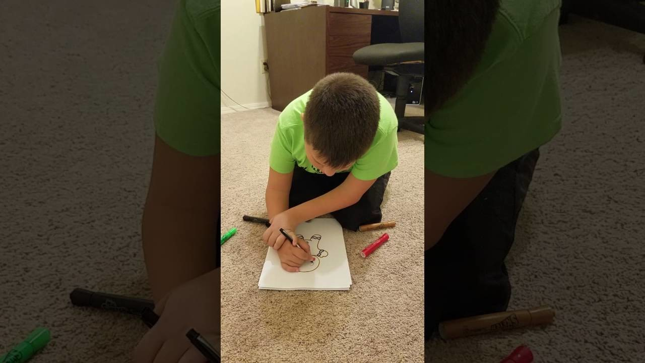 Kenneth Carpenter shows us how to draw a gingerbread man