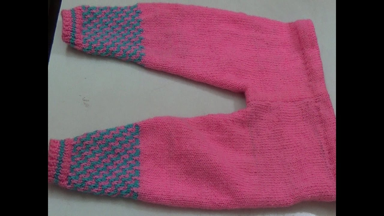Make knitting Pajami. Pants for kids - step by step easy tutorial  - Part 1