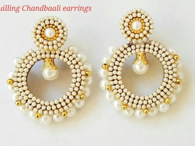 Quilling Chandbali earrings|how to make chandbali earrings|