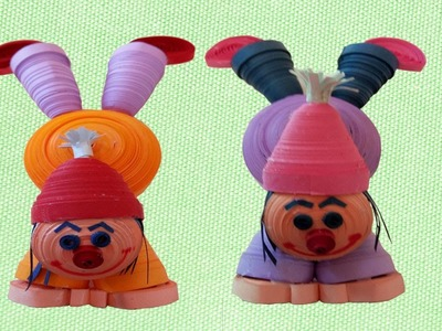 Quilling How to make  clown standing on hands for christmas special  designed  Paper Quilling Doll