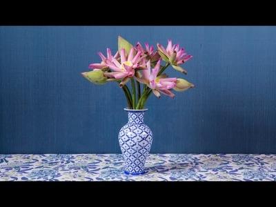 Sakul Intakul HOW-TO ep. 17 'Floral Wind Wheel: Lotus Petal Art 1' Traditional Thai