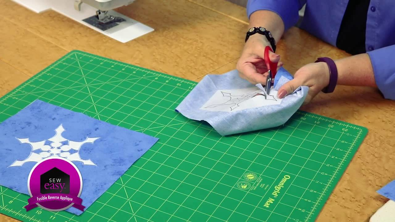 Sew Easy: Fusible Reverse Appliqué -- How to Appliqué on a Quilt