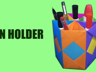 Simple paper pen holder| How to Make Pen Holder with Papers