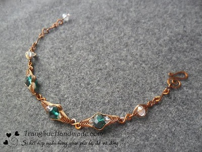 Tutorial simple bracelet for beginners - How to make wire jewelery