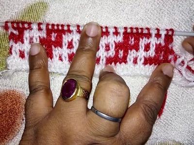Two Color Knitting Pattern no.4   Hindi