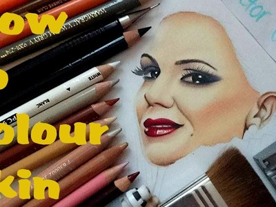 2000 SUB SPECIAL! How to colour skin using coloured pencils- Drawing Tutorial by Cloctor Creations