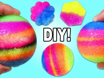 DIY Bouncy Balls Play Kit | Fun & Easy How to Make Different Shape Bouncy Balls at Home!
