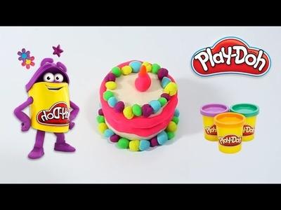 DIY How to Make Beautiful Play Doh Birthday Cake - Homemade Playdoh for Kids