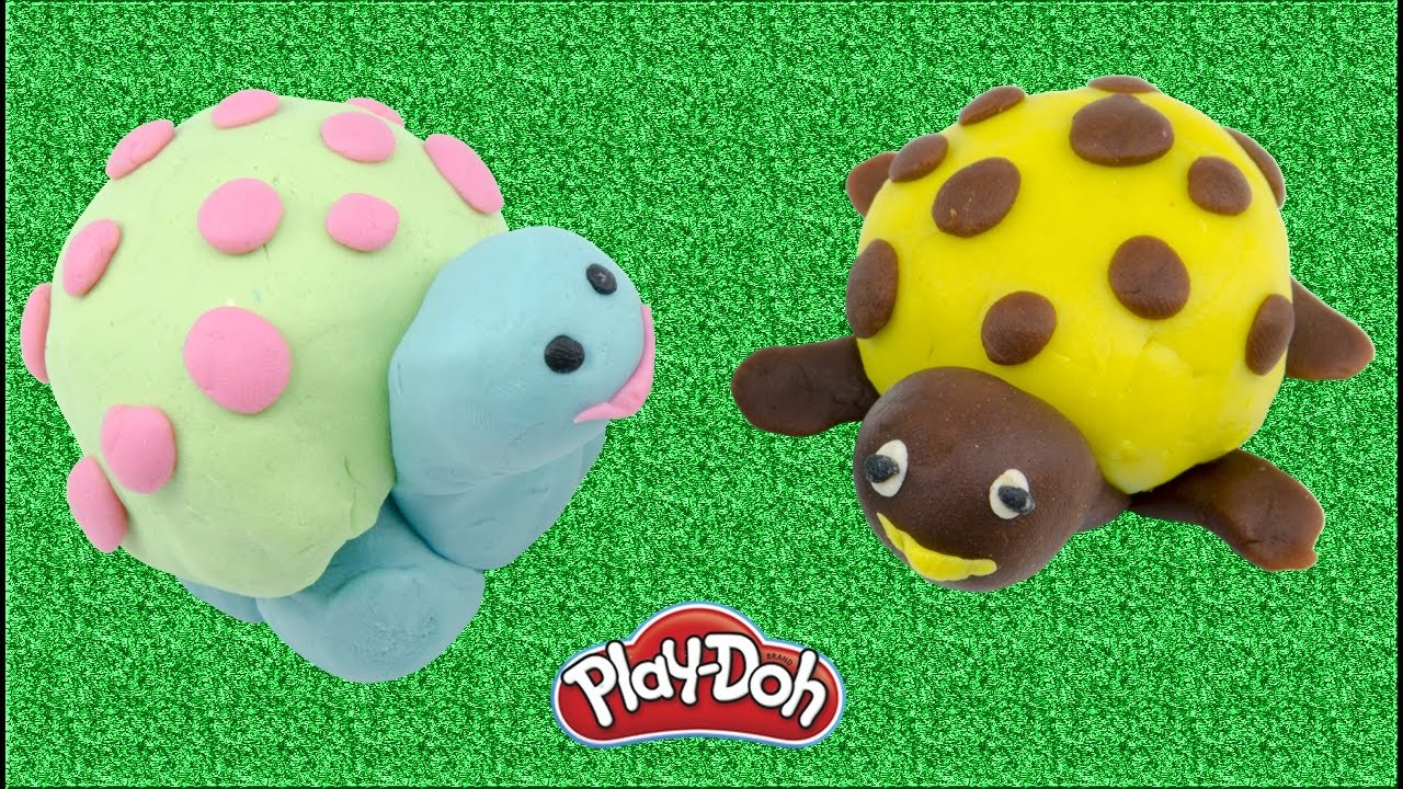DIY How To Make Turtles For Kids With Play Doh Stop Motion Fun Children