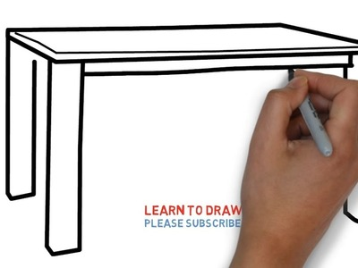 Easy Step For Kids How To Draw a Table