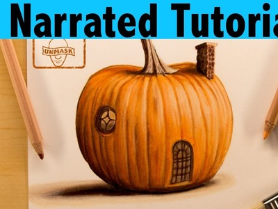 How to Draw a Pumpkin House | Narrated Tutorial