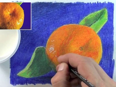 How to Draw a Shiny Orange  in Color Pencil
