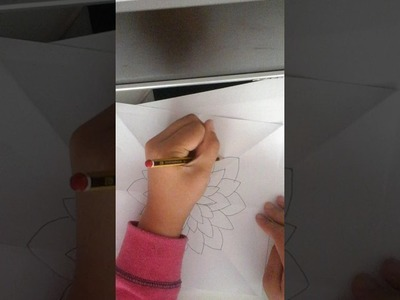 How To Draw A Simple Rainbow Mosaic Flower!!!!