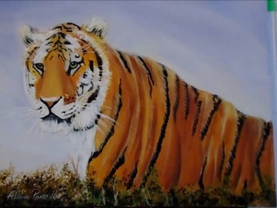 How to DRAW and PAINT a Tiger with Acrylic Paint Lesson 1 real time Transferring your drawing,