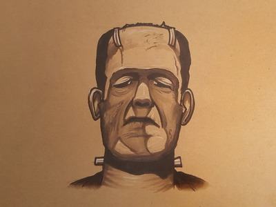How to Draw Frankenstein Tattoo Style