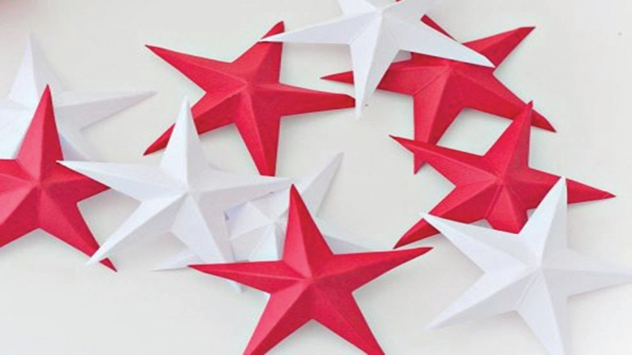 How to make a 3D paper star | Beautiful and Simple 3D paper Star | Very Easy Crafts