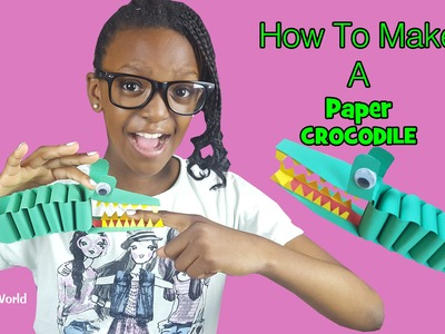 How to Make A Paper Crocodile By Taniasworld