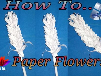 How to make a paper flowers | step by step | simple paper cutting | tutorial