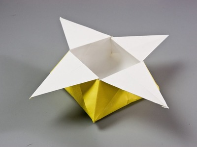 How to make a paper star box | Origami box