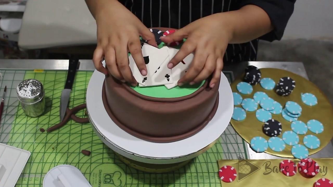 How to make a Poker Cake   Bake To Play