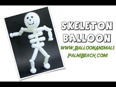 How To Make A Skeleton Balloon - Balloon Animals Palm Beach