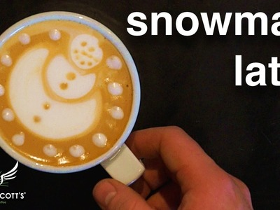 How to make a Snowman Latte • Barista Training