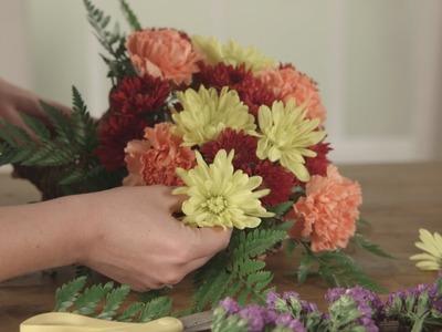How to Make A Thanksgiving Cornucopia Centerpiece