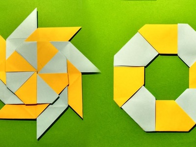 How To Make A Transforming 8 Pointed Origami Ninja Star