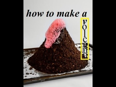 How to make a volcano with lava coming out (science project)