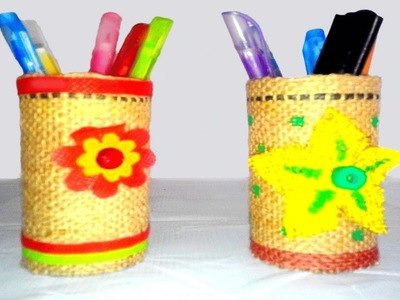 How to make a wonderful pen stand from waste Accessories - Handicraft Arts