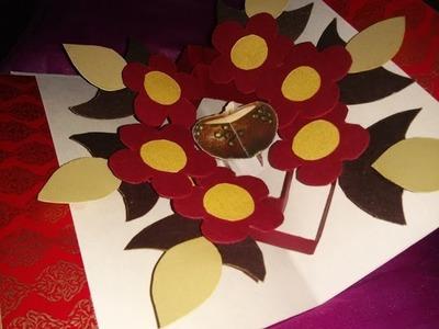 How to Make DIY Diwali 3D Pop Up Greeting Card Tutorial Tips for Kids