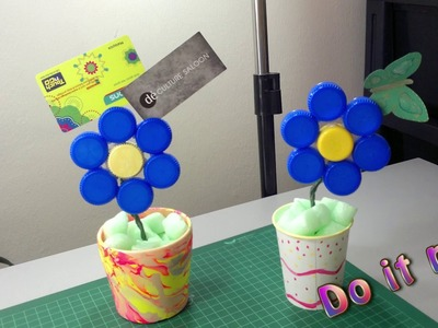 How to make flower out of bottle caps