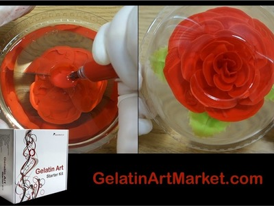 How to make Gelatin Art flowers - Gelatin Art Starter Kit #1 by Gelatin Art Market