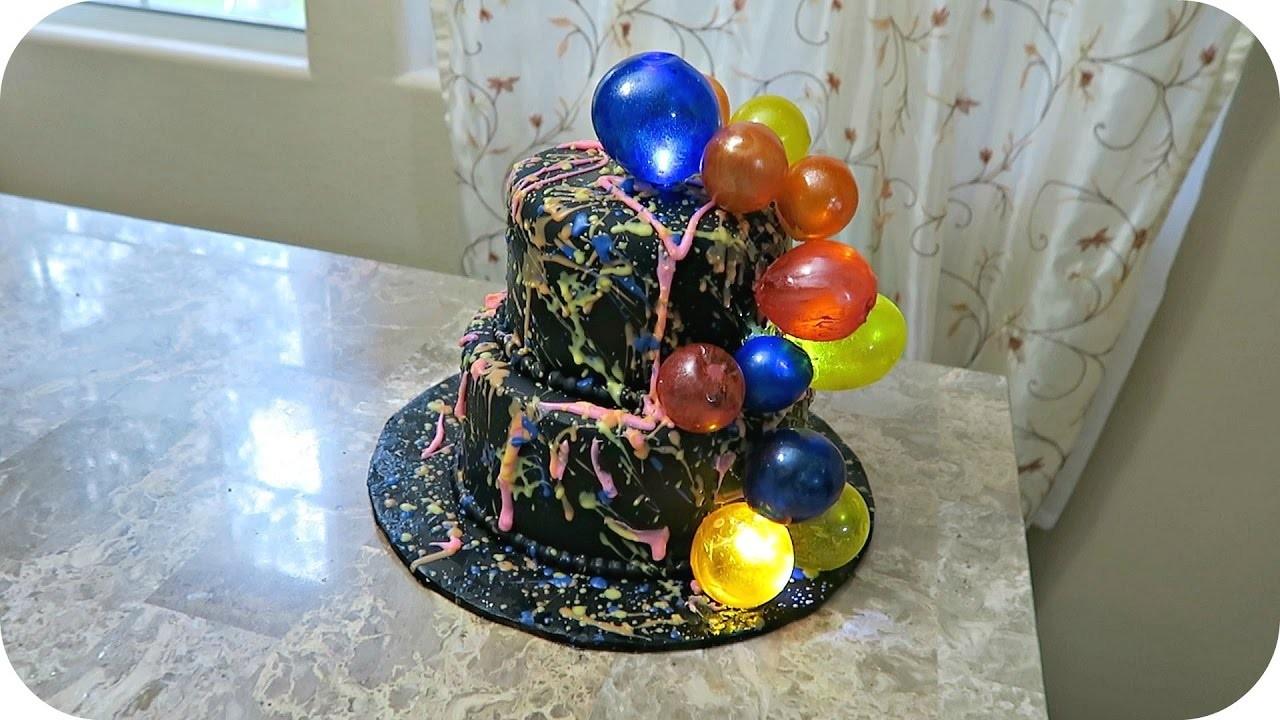How to make Jello gelatin bubbles fondant cake