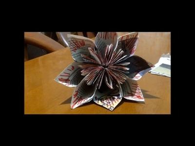 How to make Newspaper Origami  video