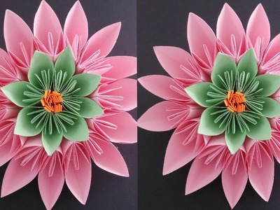 HOW TO MAKE ORIGAMI STANDUP FLOWERS