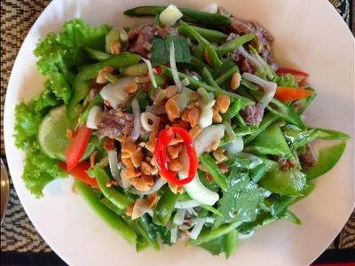 How to make Plea Sach Koo ភ្លាសាច់គោ (Cambodian food)