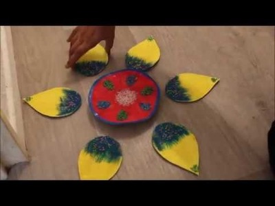 How to make rangoli from paper
