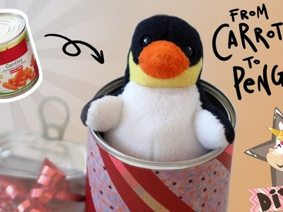 How to recycle tin cans - Creative gift wrapping idea to surprise your friends - DIY tutorial