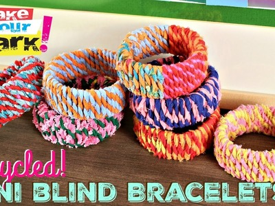 How to: Recycled Mini Blind Bracelets