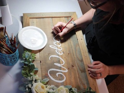 How We Make Our Beautifully Rustic Signs