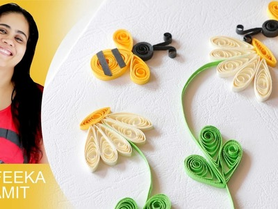 Paper quilling how to make greeting card