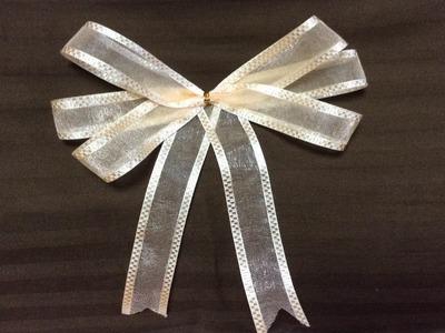วิธีทำโบว์ อย่างง่าย How to make a simple bow