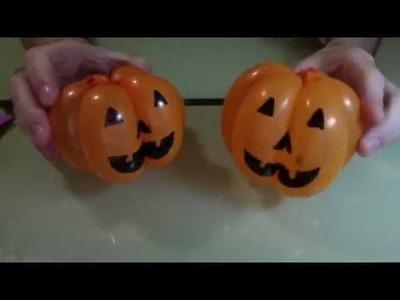 Balloon Halloween pumpkin in 2 mins (DIY)